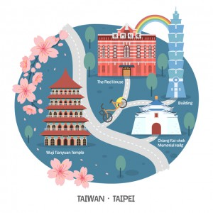 Taipei walk map